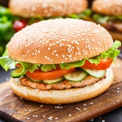 Burger de poisson blanc