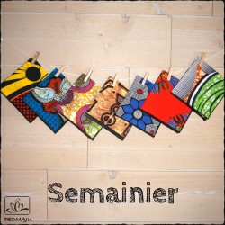 Semainier de mouchoirs – Wax
