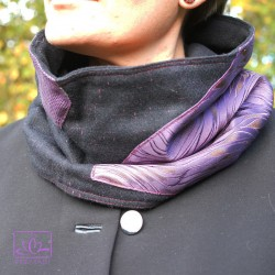 Tour de cou – Snood – Recyclage Cravates – lainage et cravates – violet